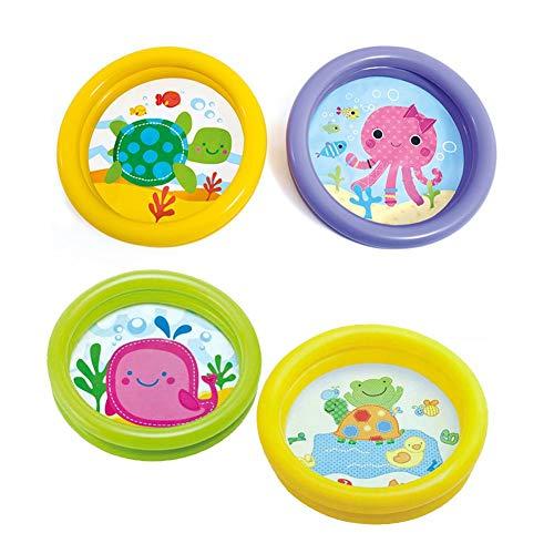 HermosapotyPortable Baby aufblasbaren Pool, Cartoon Runde Becken Wasserbadewanne, Pool Ocean Ball Pool, Pool + Patch (Aufblasbaren Pool 36)