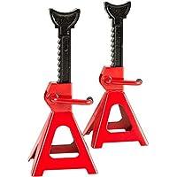 TecTake Set de 2 Elevadores de coche gatos de caballete 3000 kg - disponible en diferentes colores - (Rojo | no. 401671)