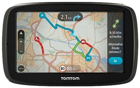 TomTom GO 50 Europe Traffic Navigationssystem (12.7 cm (5 Zoll) resistives Touch Display - Bedienung per Fingergesten, Lifetime TomTom Traffic & (Navi Sprachsteuerung)