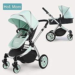 Hot Mom Multi cochecito cochecito 2 en 1 con buggy 2018 nuevo diseño - Green