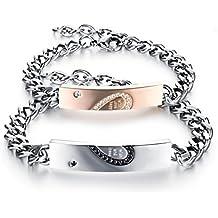 Très Chic Mailanda Bracelet en acier inoxydable Avec élément gravé exprimant l'amour éternel