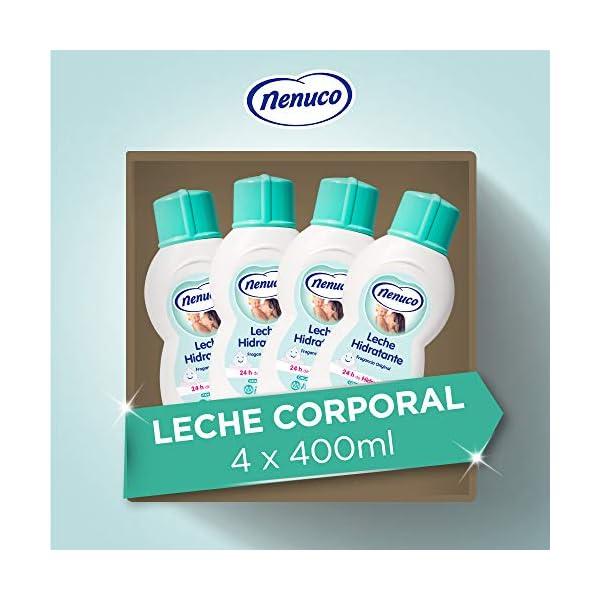 Nenuco Leche Hidratante para bebé fragancia original, 4 unidades x 400 ml
