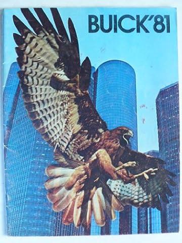 "Prospekt / brochure - 1981 Buick (Book) mit Regal, Riviera, Le Sabre, Electra, Century, Skylark, Estate Wagon + sheet ""engines"" - Original - sehr schön"