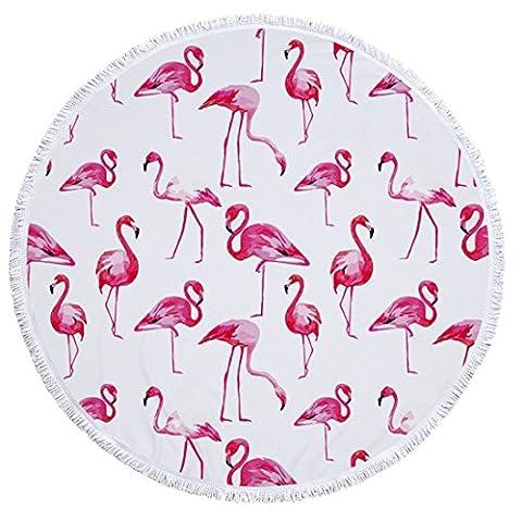 Souarts Strand tuch rund tropisch Sommer Stil Tapisserie mit Flamingo