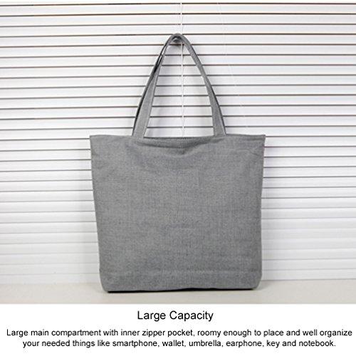 Vbiger Borsa a tracolla in tela Tote bag casual Borsetta carina per donne(Colore 1) Colore 2