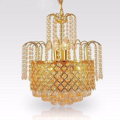 YUENLONG Il golden lampadario di cristallo lampada illumina soggiorno ristorante deluxe camera da letto piccolo di illuminazione 42cm , piccolo 42 * 42