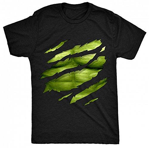 8TN-Green-Man-ripped-chest-Hulk-Inspired-Mens-T-Shirt-Black-Medium