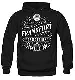 Mein leben Frankfurt Kapuzenpullover | Freizeit | Hobby | Sport | Sprüche | Fussball | Stadt | Männer | Herren | Fan | M1 Front (L)