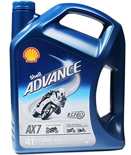 Shell 550027071Advance 4T AX710W 40Motorenöl für - Shell Motorrad öl