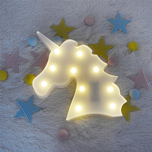 VineCrown LED Unicorn Night Lights Baby Kids Room Mood Lights Animal Pegasus Light Table Lamps Children Nursery Living Room Party Wedding Decorations 512LIJC5TaL