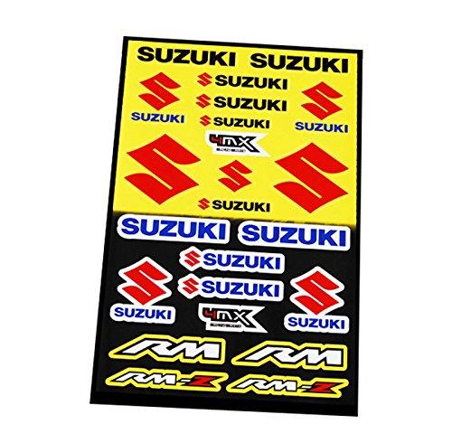 ONOGAL Kit 21 Pegatinas Vinilo de Moto Motocicleta Suzuki Tunning Tunear Restaurar...
