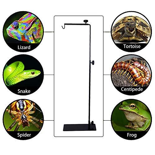 Preisvergleich Produktbild Eayse Reptile Light Stand - Heizlampenhalter Einstellbare Teleskop-Stehlampe Aus Metall Für Leuchten Und Terrarien,  Reptilien,  Amphibien,  Kleintiere,  Vögel