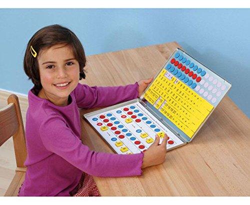 Betzold 1, 2, 3 ,,, Zahlenzauberei: Rechen-Magnetbox mit 30 Arbeitsblättern - Rechnen lernen Mathematik Grundschule magnetische Zahlen Arbeitsbox Wendeplättchen Zahlenraum bis 20