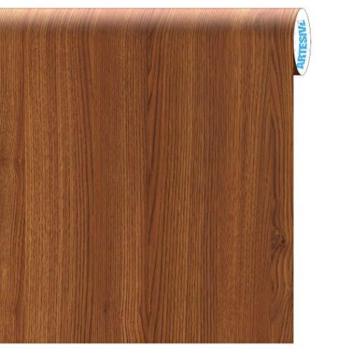 Artesive wd-020 rovere medio larg. 60 cm al metro lineare - pellicola adesiva in vinile effetto legno per interni per rinnovare mobili, porte e oggetti di casa