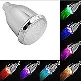 Soffione doccia a LED RGB con 7 LED colorati per vasca da bagno, filtrazione, risparmio idrico