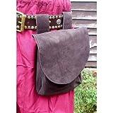 HB Emporium LARP groß Mittelalter Viking Leder Tasche Taille Tasche (braun)