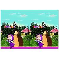 """Procos 86515–Mantel de plástico """"Masha y el oso"""", 120x 180cm, multicolor"""