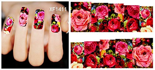 nicedeco-calcomanias-y-autoadherentes-pegatinas-decoracion-para-unas-diy-nail-arte-flores-rosa-rojo