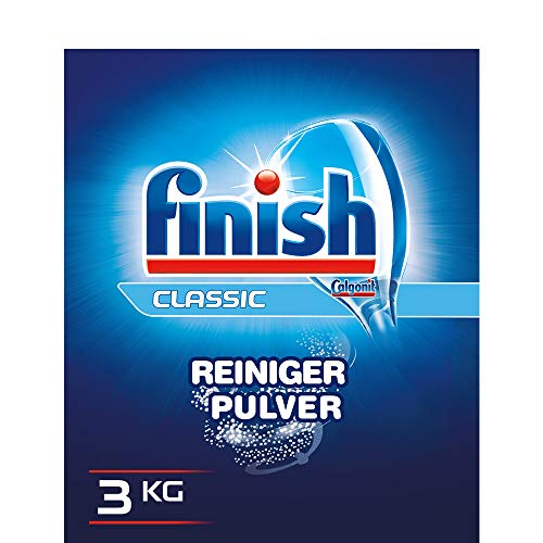 Finish Calgonit Classic Reiniger-Pulver, Geschirrspülmittel, Spülmaschinenpulver, Kraftvolle Reinigung mit Aktiv-Einweichstoffen, 3 kg