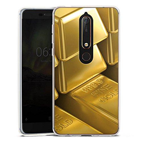 DeinDesign Nokia 6.1 Silikon Hülle Case Schutzhülle Goldbarren Gold Barren
