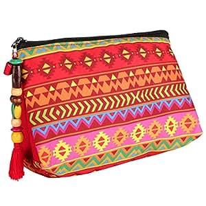All Things Sundar Women's Fabric Pouch (Multicolour)