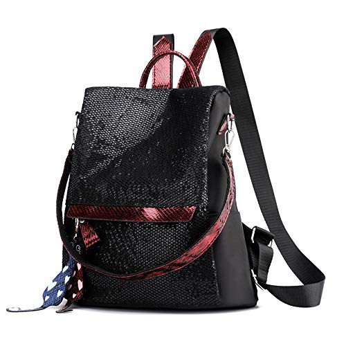 Lady Bag Charme (Anti-Theft Shoulder Bag Female Oxford Cloth Women's Small Backpack Hundred-Hit Travel Bag Sequins Small Bag)