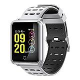 OASICS Fitness Armband, Smart Watch für Damen Herren,IP68 Smart Watch,Fitness Tracker Blutdruck-Herzfrequenz-Monitor Aktivitäts-Tracker Bluetooth Wireless Smart Watch für Android und iOS (Weiß)
