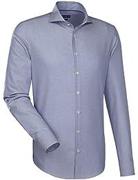JACQUES BRITT Herren Hemd Slim fit Blue Label 1/1-Arm Bügelleicht Uni / Uniähnlich City-Hemd Hai-Kragen Manschette weitenverstellbar