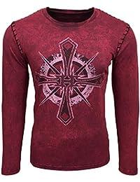Printed Motiv Druck Herren Langarm Shirt T-Shirt Longshirt A1-RN10126