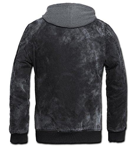 Brandit Dayton Jacke Charcoal-grau, incl. herausnehmbarem Sweateinsatz, Größe XXL-