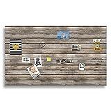 Cuadros Lifestyle Markerboard/Magnettafel / Whiteboard aus Acrylglas | Verschiedene Größen | Holzoptik | inkl. Boardmarker und 10 Supermagneten, Größe:200x120 cm