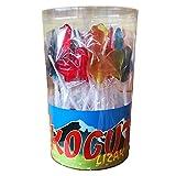 Lollies Hahn Gross mit Himbeergeschmack 27 Stück 1,215kg Lutscher Lollipops Dauerlutscher am Stiel
