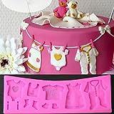 tiaobug Baby Dusche Silikon Backform Fondant Küche Cake CupCakes Sugarcraft Form für Schokolade Backen Werkzeug