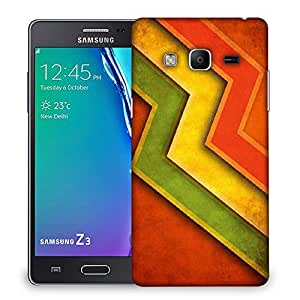 Snoogg Red Yellow Green Designer Protective Phone Back Case Cover For Samsung Galaxy Tizen T3