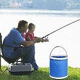 NZNNXN 11L Pieghevole Secchio Portatile Pieghevole Custodia Impermeabile per Campeggio, Pesca, Canottaggio, Escursionismo