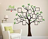 "Best Pictures For Living Room Decors - Wallstick "" family tree with photo frames "" Review"