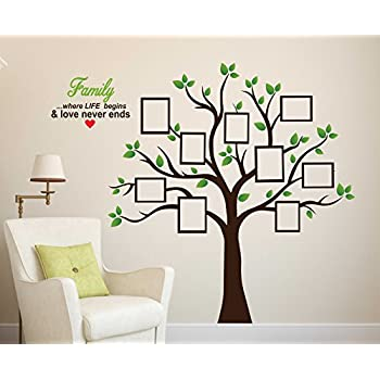 Buy Wallstick Family Tree Wall Sticker Vinyl 49 Cm X 4