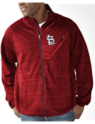 "St. Louis Cardinals MLB G-III ""Full Count"" Men's Full Zip Track Jacket Veste"
