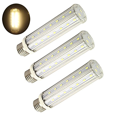 LuxVista15W E27 LED Maiskolbenlampe Warmweiß 3000K Edison Schraube E27 LED Mais Licht wie120W Halogenbirne (3 Stück)