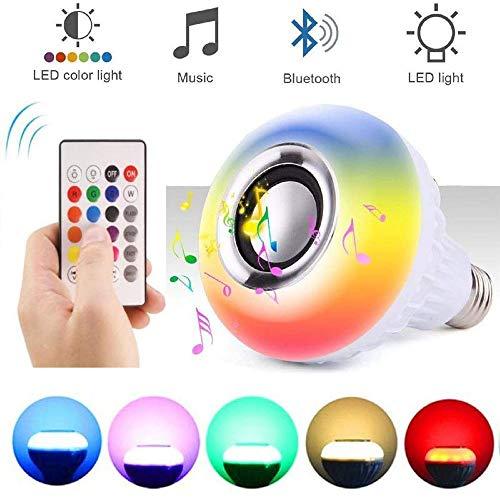 Led Musik Glühbirne Multi-Color Ändern Rgb Drahtlose Bluetooth Musik Glühbirne Lautsprecher Mit Eingebautem Stereo Lautsprecher Und Fernbedienung Für Home Stage Party Dekoration Lichter