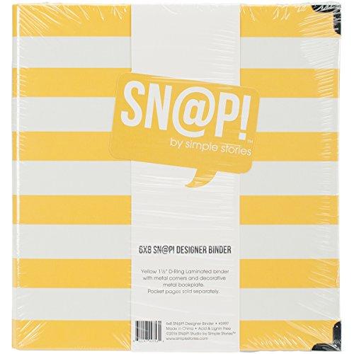 Unbekannt Simple Stories 3997Snap Designer Binder, Mehrfarbig, 6x 20,3cm - 6x6 Binder