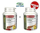 Korean (Panax) Ginseng 2000mg | A Natural Source of Energy Boost | Bundle Deal 120+120 Tablets (240 in total) | 100% money back guarantee | Manufactured in the UK from Simply Supplements