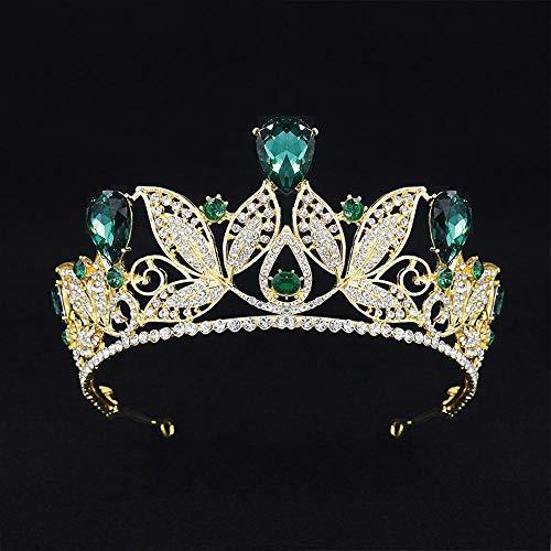 arschmuck,Hohle Wasser wenig Hoop Krone Braut Hochzeit Schmuck Kopfschmuck Haar Kamm Geburtstag Big Crown 16 * 7,5 cm ()
