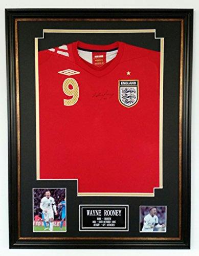 VINTAGE-WAYNE-ROONEY-Signed-England-Shirt-AFTAL-DEALER-RECORD-GOALSCORER