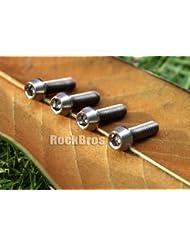 RockBros Titanio Ti Perno Tornillo M5 x 18mm Taper Cabeza Cónica Cage Stem Kit 4pcs