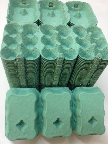 100 X 1/2 DOZEN EGG BOXES NEW (GREEN COLOUR) Test