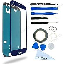 Kit de Reemplazo de Pantalla Táctil para Samsung Galaxy S3 i9300 i9305 Azul Incluye Pinzas / Cinta adhesiva 2 mm / Kit de Herramientas / Limpiador de Microfibra / Alambre Metálico / Manual de Instrucciones MMOBIEL