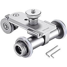 Neewer Coche Slider Dolly de 3 Ruedas Mini Motorizada Eléctrica de Vídeo de Aleación de Aluminio para Canon Nikon Sony Cámara DSLR Videocámara GoPro iPhone Smartphone (Plata)