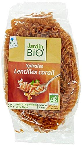 Jardin Bio Spirales aux Lentilles Corail 250 g - Lot de 4