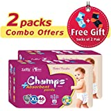 Champs High Absorbent Premium Pant Style Diaper (Pack Of 2)(Free 2-Pair Socks)| Premium Pant Diapers | Premium Diapers | Premium Baby Diapers | Anti-rash And Anti-bacterial Diaper | (X-Large, 46)